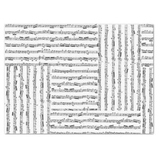 Music Sheet Tissue Collage