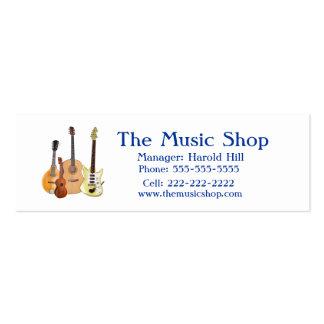 Music Shop/Guitar Teacher Business Cards