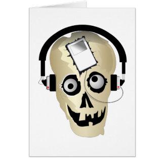 Music Skull Card