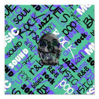 Music Skull Art Photo