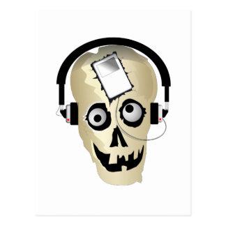 Music Skull Postcard