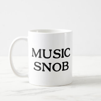 Music Snob Coffee Mug
