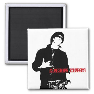 Music Snob Square Magnet