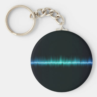 music sound waves science key ring
