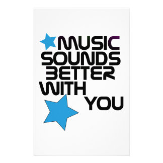 Music Sounds Better With You Personalized Stationery