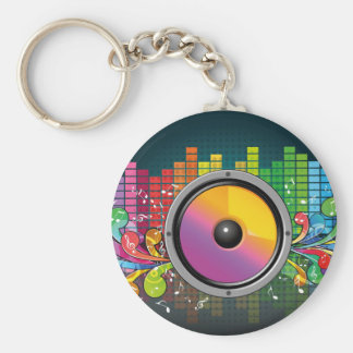 Music speaker colorful artistic illustration key chains
