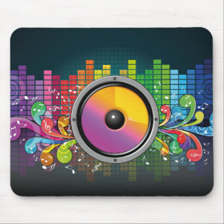 Music speaker colorful artistic illustration mouse pad