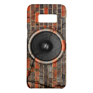 Music speaker on a cracked brick wall Case-Mate samsung galaxy s8 case