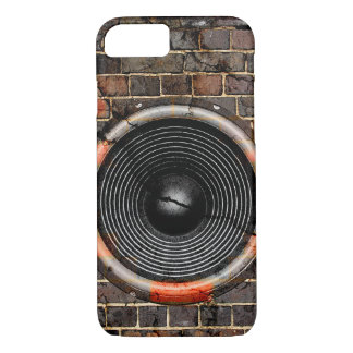 Music speaker on a cracked brick wall iPhone 7 case
