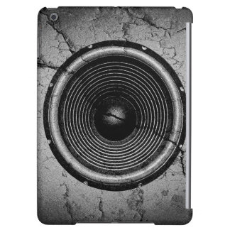 Music speaker on a cracked wall iPad air case