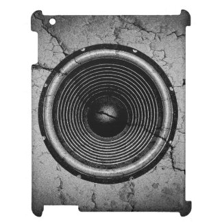 Music speaker on a cracked wall iPad cover