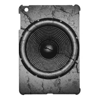 Music speaker on a cracked wall iPad mini cases