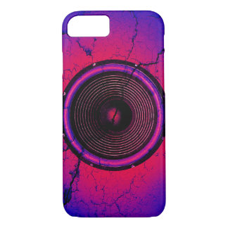 Music speaker on a cracked wall iPhone 8/7 case