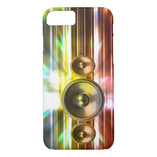 Music speakers and party lights iPhone 7 case