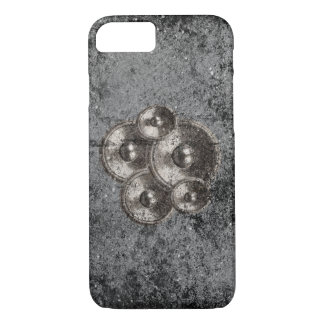 Music speakers on a grunge concrete wall iPhone 7 case