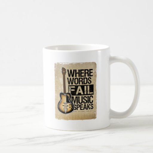 music speaks basic white mug