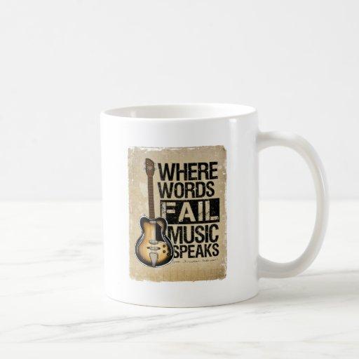 music speaks classic white coffee mug