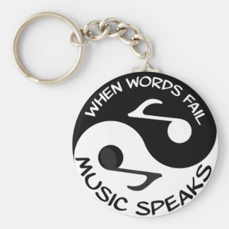 Music Speaks Key Ring