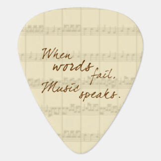 Music Speaks Plectrum