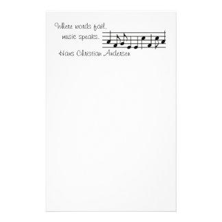 Music Speaks -- Stationery