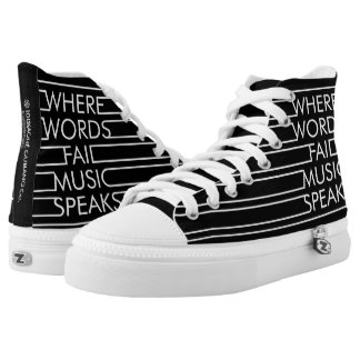 Music speaks Zipz High Top Shoes Printed Shoes