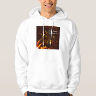 Music staff and notes hoodie