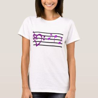 Music Staff Heart Women's Shirt