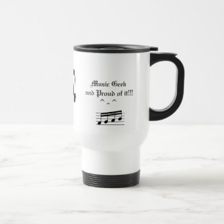 Music Stainless Steel Travel Mug