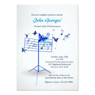 Music Stand Blue Invitation