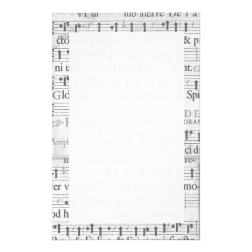 Music Stationary Customized Stationery