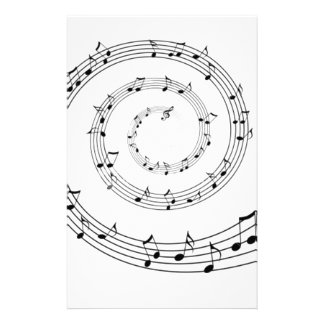 Music Personalized Stationery