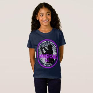 Music Store Retro Logo Saxophone Player Graphic T-Shirt