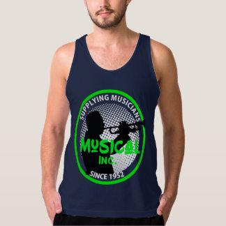 Music Store Retro Logo Trumpet Player Graphic Singlet