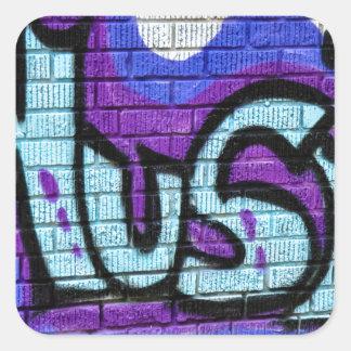 Music Street Art Graffiti Square Sticker