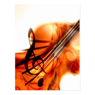 Music  Stringed Instruments Violin Destiny Dance Postcard