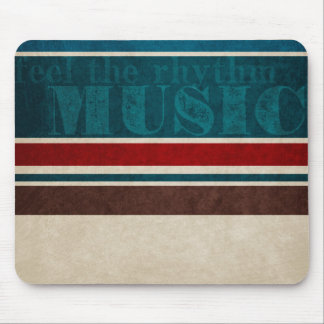 music striped Background Mouse Pad