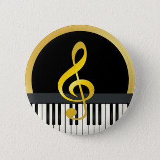 Music Symbol Piano Board Clef Notes 6 Cm Round Badge