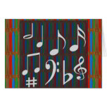 Music Symbols Band Musician Mastreo Singers Songs Greeting Card