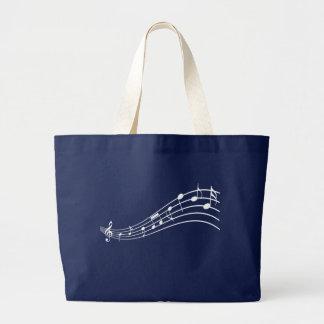 Music Symbols Wavy Staff Lines Musician's Bag