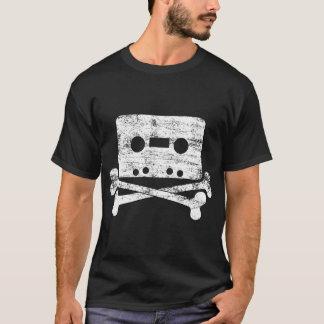 Music Tape Cassette and Cross Bones T-Shirt