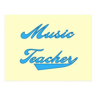 Music Teacher Blue Tshirts and Gifts Postcard