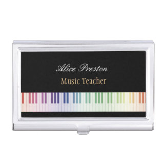 Music Teacher Business Cards Holder Business Card Cases