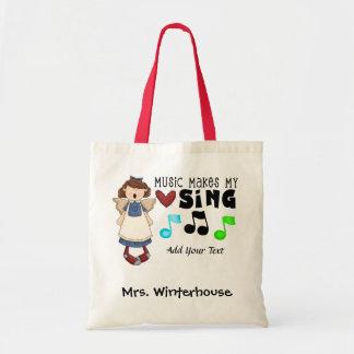 Music - Teacher - Chorus - Personal - Value Tote Budget Tote Bag