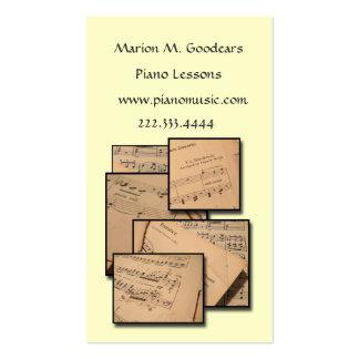 Music Teacher Custom Color Business Card