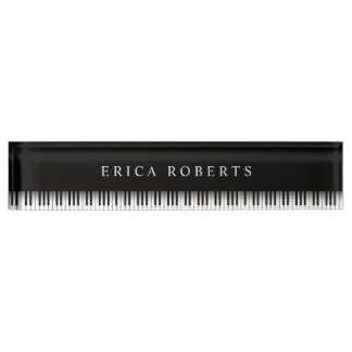 Music Teacher Elegant Piano Keys Dark Nameplate