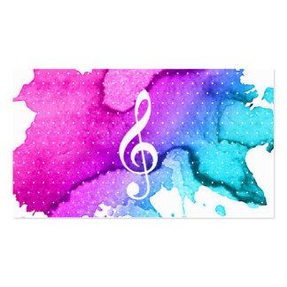 Music Teacher Elegant Watercolor Modern Pack Of Standard Business Cards