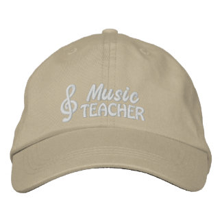 Music Teacher Embroidered Cap Embroidered Hats