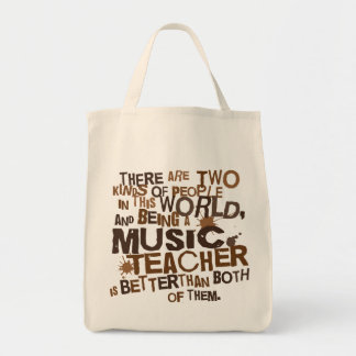 Music Teacher Gift Grocery Tote Bag
