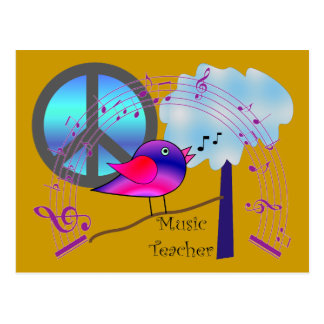 Music Teacher Gifts Postcard