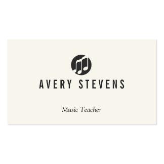 Music Teacher, Music Notes Logo, Musician Business Card Template
